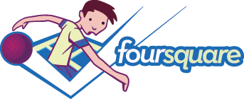 "Foursquare's ""male"" logo"