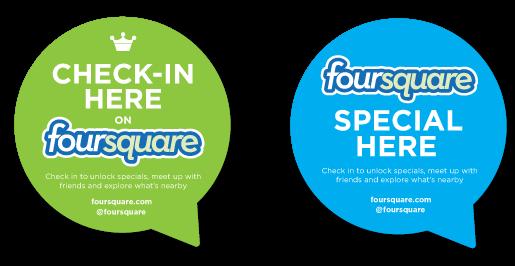 foursquare sticker